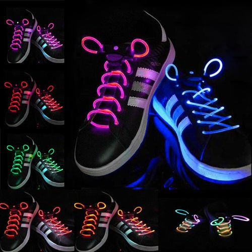 Cool 19 Color For Pick LED Flash Light Up Glow Shoelaces Party