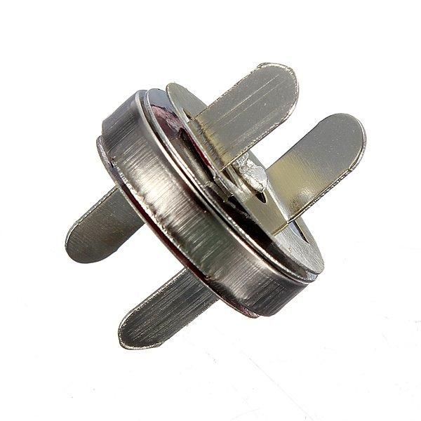 12 Set 18mm Nickel Magnetic Snaps Bag Clasp Metal Button Fastener