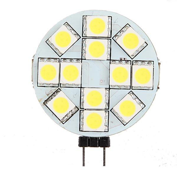 2xG4 12 SMD 5050 LED Bulb Lamp Light Marine Boat Cabinet Pure White