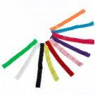 10 Colors Baby Elastic Headband Kids Girl Crochet Lace Headdress