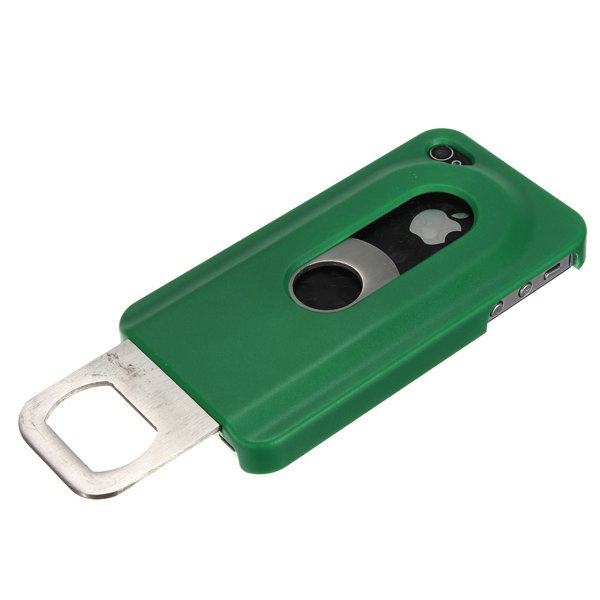 Beer Bottle Opener Slide InOut Hard Case Cover For iPhone 4 4S