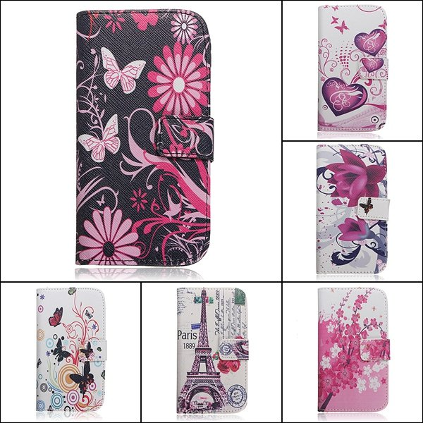 Stylish Flip PU Leather Wallet Card Case For Samsung Galaxy S5 i9600