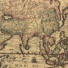 Retro Kraft Paper 1641 Old Globe Navigation Map Home Decor