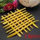 14Pcs Fondant Cake Decorating Tools Flower Cutters