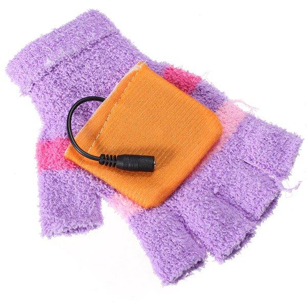 USB Heated Warm Woolen Fingerless Gloves Mitten