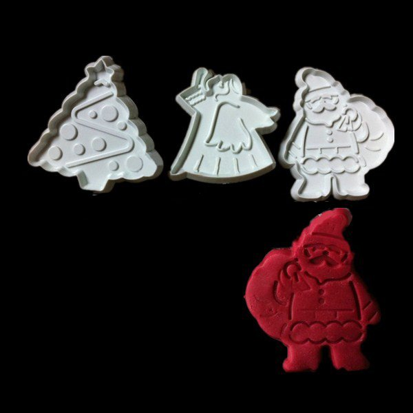 3PCS Christmas Day Plastic Cake Mold