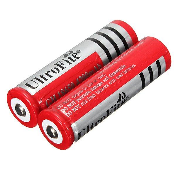 1 PCS UltroFite 18650 Rechargeable Li-ion Battery 4200mah