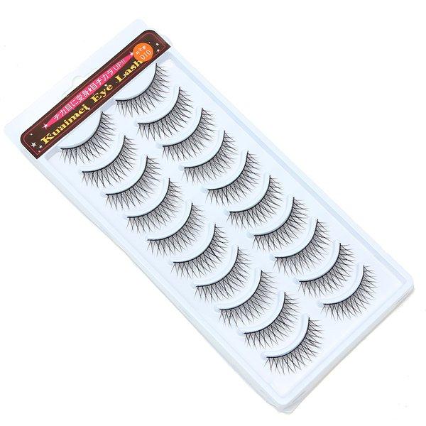 10 Pairs Long Makeup False Eyelashes Handmade Natural