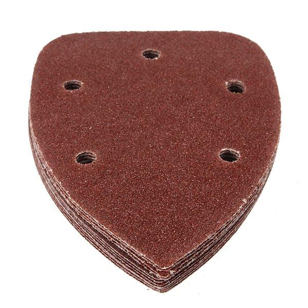 12Pcs 5 Holes Mixed Triangular Sanding Sheet Hook Sander Sandpaper