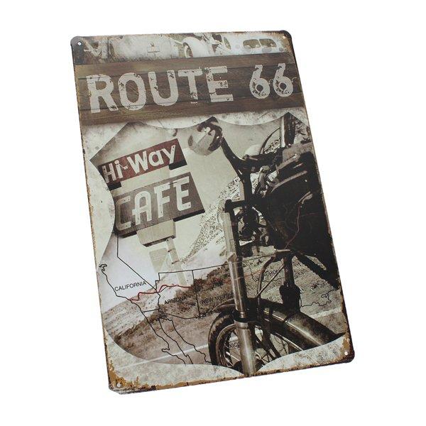 Route 66 Tin Sign Retro Vintage Metal Plaque Bar Pub Wall Decor