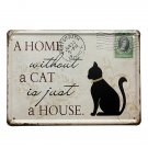 Black Cat Tin Sign Stamp Vintage Pub Wall Decor Thanksgiving Day Gift