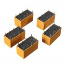 5Pcs HK19F DC 12V SHG Coil DPDT 8 Pin Mini Power Relays PCB Type
