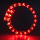 24 LED Strip Motorcycle Car Lights Flexible Grill Light