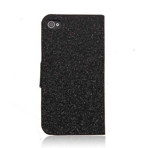 Bling Flip Magnetic PU Leather Stand Wallet Case For iPhone 4 4S