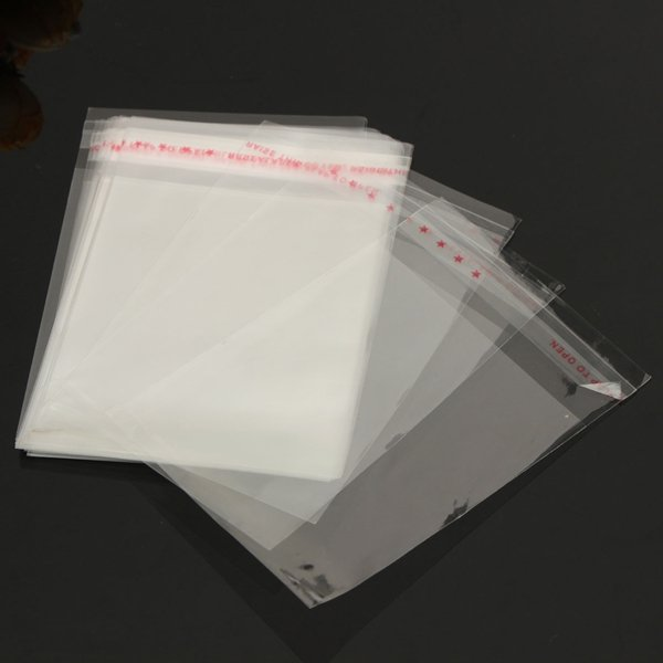 7*10CM Self Adhesive Seal Clear Transparent OPP Plastic Bag 400pcs