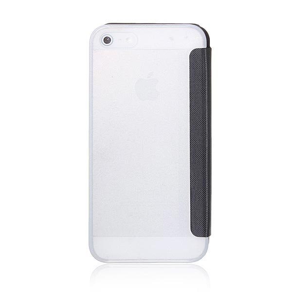 Slim Flip Front View Leahter Frosted Clear Case For iPhone 5 5S