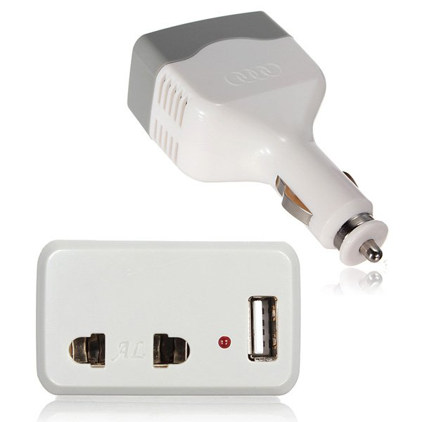 Car Charger Power Inverter Adapter Converter with USB Outlet