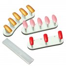 3Pcs Plastic Nail Art Tips Display Practice Tools Stand Holder