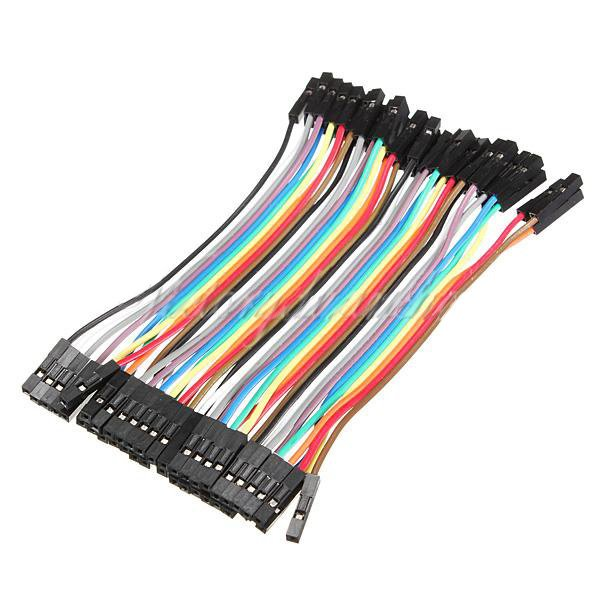 40 x 10cm  Female To Female Dupont Jumper Wires Cable