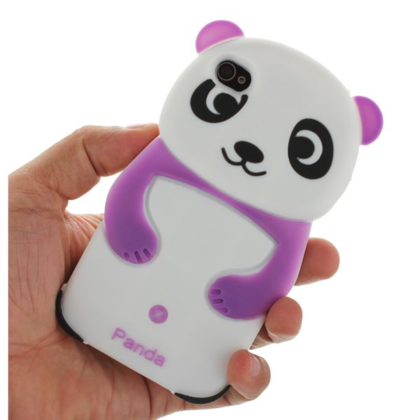 Panda Bear Silicone Rubber GEL Soft Back Case Skin For iPhone 4 4S