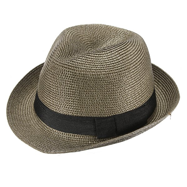 Fashion Unisex Fedora Trilby Cap Summer Beach Adumbral Straw Hat