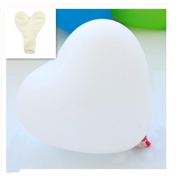 50Pcs Heart-Shaped Latex Balloons Party Holiday Decoration Ballon