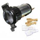 12V 120W Motorcycle Cigarette Lighter Power Socket Plug Outlet