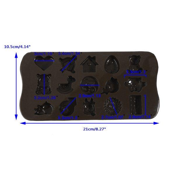 15 Hole Silicone Cartoon Chocolate Mold