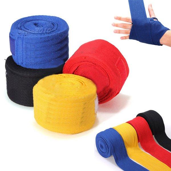 2PCS 2.5M Cotton Boxing Handwraps Bandages Punching Hand Wraps