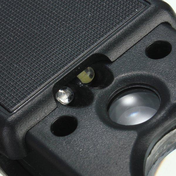 30X 60X Pull Type LED Light Mini Identifying Magnifier Black