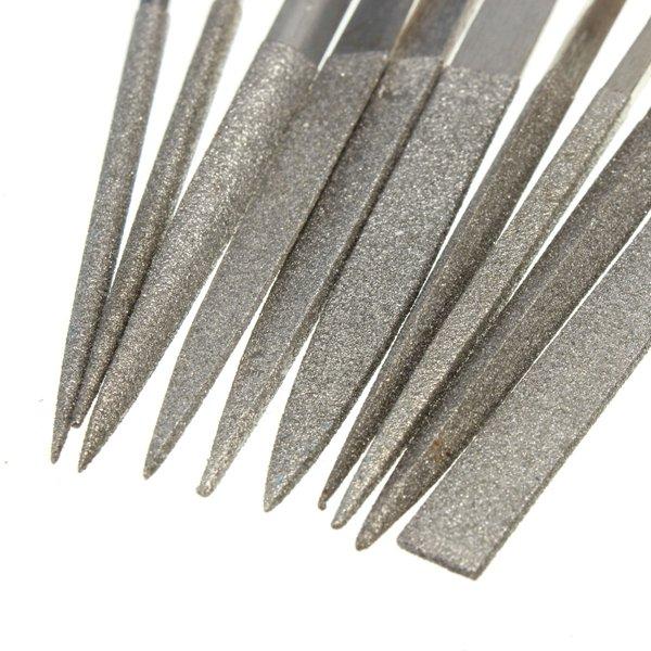 10pcs Diamond Needle File Rasp Set For Jewelery Glass Jade Grinding