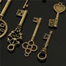 12pcs Vintage key Charms Accessories Jewelry Antique Charms/Pendants