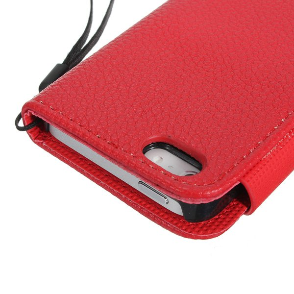 Colorful Fashion Leather Magnetic Flip Wallet Case For iPhone 5 5G