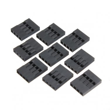 100pcs 4P Dupont Jumper Connector Female Pin Wire 2.54mm Pitch