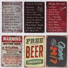 Tin Sign Vintage Metal Plaque Home Bar Cafe Garage Pub Wall Decor