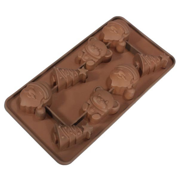 Xmas Santa Tree Bear Silicone Fondant Chocolate Cake Decorating Mold