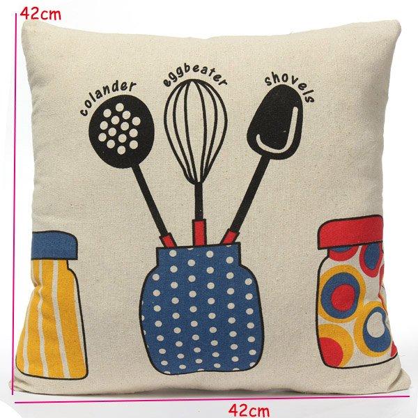 Linen Child Throw Pillow Case Sofa Cushion Cover Home Decor