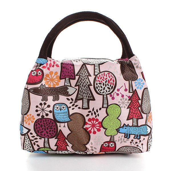 Casual Picnic Lunch Box Bag Carry Tote Handbag Storage