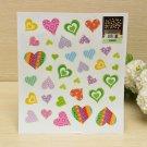 Love Heart Luminous Fluorescent Wallpaper Cartoon Wall Sticker