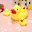 Baby Bathing Toys Water Floating Squeaky Yellow Rubber Ducks