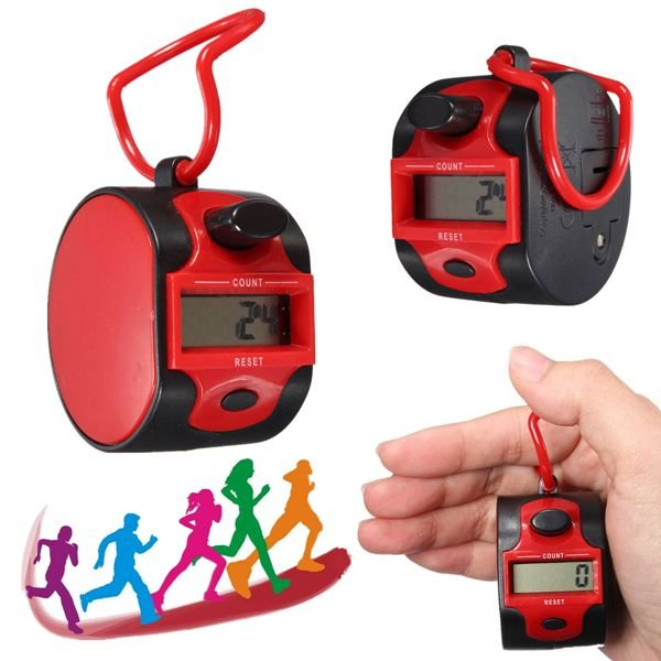Electronic 5 Digits Golf Running Hand Held Tally Counter Recorder