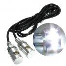 1pair 12V Motorcycle White SMD LED License Plate Light Lamp Bulb