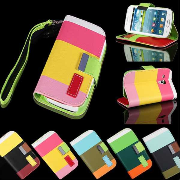 PU Leather Wallet Card Flip Case For Samsung Galaxy S3 Mini I8190