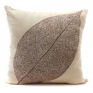 Retro Leaf Pillow Case Linen Cotton Cushion Cover Home Decor