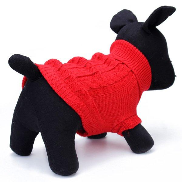 Pet Dog Cat Coat Winter Warm Sweater Knit Outwear Apparel