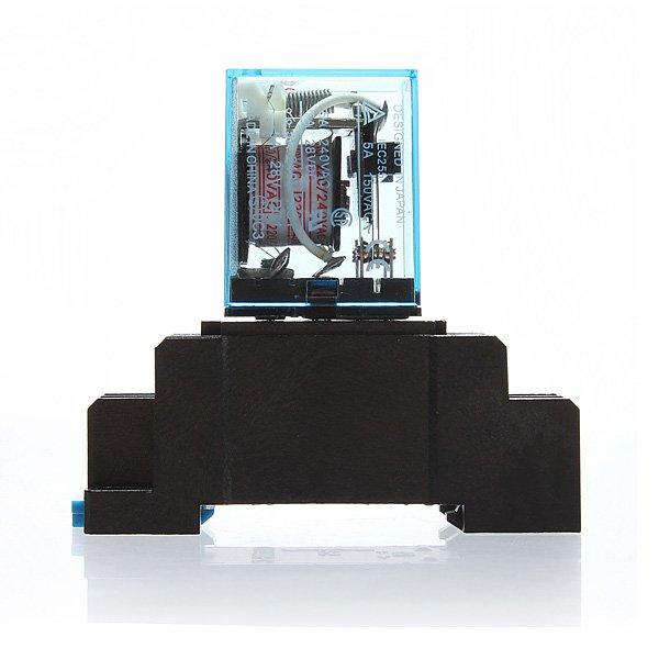 MY2NJ DYF08A 220/240V AC Coil DPDT Power Relay Black Socket Base