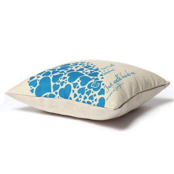 Linen Love Shape Lovers Throw Pillow Case Sofa Cushion Cover