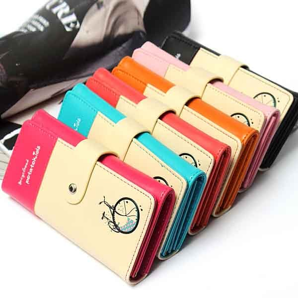 PU Leather Wallet Womens Purse Checkbook Coin Bag Card Handbag
