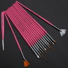 15 Nail Art Design Painting Tool Pen Polish Brush Set