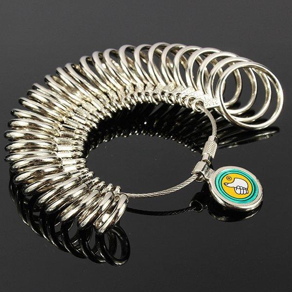 31pcs Metal Finger Ring Sizer Tool Jewelry Measure Gauge Tool
